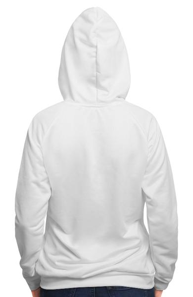 Толстовка с полной запечаткой Alcochat hoodie white