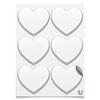 Магниты-сердца 7.5x9.7см