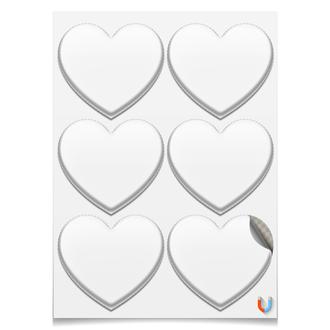 Магниты-сердца 7.5×9.7 см