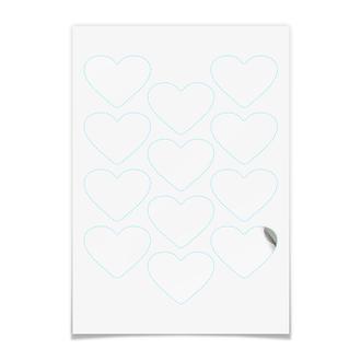 Наклейки-сердца 5×6.5 см