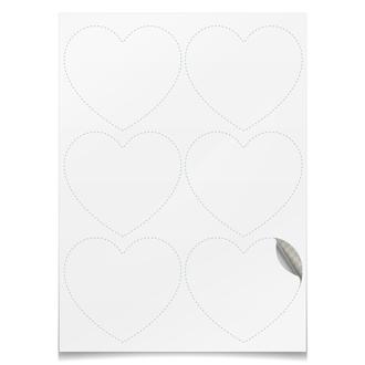 Наклейки-сердца 7.5×9.7 см