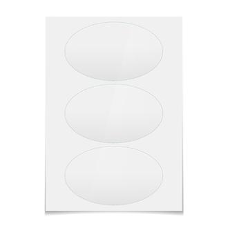 Наклейки овальные 15×9 см