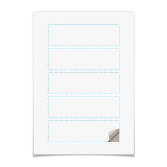 Наклейки прямоугольные 15×4.5 см