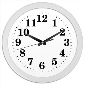 Часы круглые из пластика