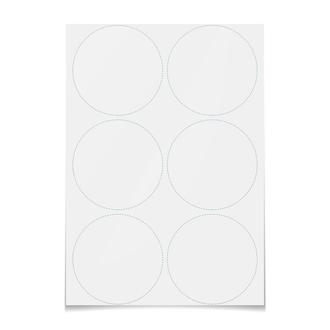 Наклейки круглые 9.5×9.5 см