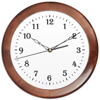 Часы круглые из дерева