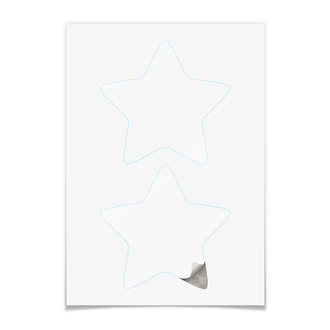 Наклейки-звёзды 14.5×14.5 см