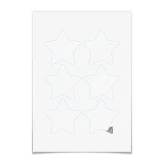 Наклейки-звёзды 7.5×7.5 см