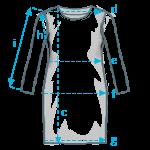 Size info long sleeve dress