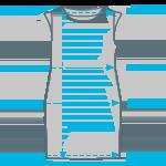 Size info sleeveless dress
